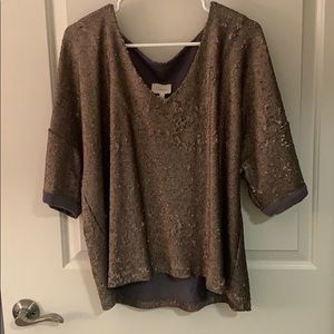 Sequin top from Anthropologie